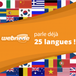 Webnode disponible en 25 langues